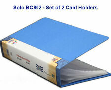 Solo BC802 Visiting Card Holder 240 Pockets ( Pack of 2 )