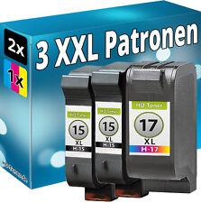 SET 2x TINTE PATRONEN für HP15+17 für DeskJet 825c 845c 840c C6615DE+C6625AE