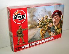 AIRFIX A02701 Unpainted Plastic Model Soldiers WWII BRITISH PARATROOPS 1:32Scale