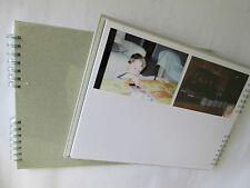 Album photos large 160 10 11,5 x15 pages blanches spirale tissu fabr. Europe !