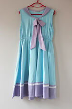 Harajuku Kawaii Fairy Kei Soft Sister Pastel Blue Lavender Sailor Skater Dress
