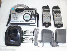1 panasonic kx-tg5439s 5.8 ghz cordless phone unit with water resistant handsets