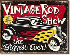 HOT ROD Vintage Style Retro Street Rod Show Pin up Tin Metal Sign 1324