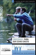 Creciendo Para Ser Como Jes?s: Seis Sesiones sobre el discipulado (Spanish Editi