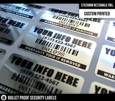 100ct 37x20MM RECTANGLE WARRANTY VOID SECURITY LABELS SEALS STICKERS - FREE S/H