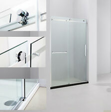 "ART OF BATH 57-59"" x 75"" FRAMELESS SLIDING SHOWER DOOR + BASE 5/16"" GLASS/CHROME"