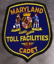 Embroidered Police Patch Maryland Toll Facilities Cadet NEW
