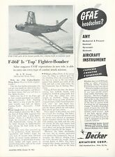 1953 Aviation Article North American F-86 Sabre Jet Fighter Bomber Korea F-86F