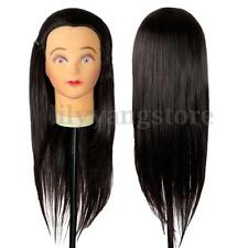 """20"""" Human Hair Cosmetology Salon Hairdressing Training Head Mannequin + Clamp"""