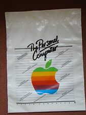 Vintage Apple Computer logo plastic carrier bag, original rainbow logo