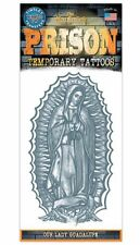 OUR LADY GUADALUPE PRISON TATTOO 1 PC TEMPORARY FAKE BODY ART GAG NOVELTY TRICK