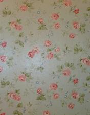 arôme Papier Peint Polaire 623-2 Floral Fleurs rose-vert