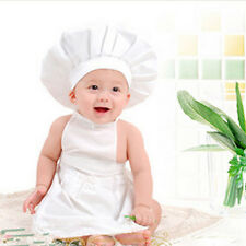Newborn Baby Girls Boys Cotton White Costume Photo Photography Prop Outfits Chef