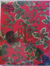 Ralph Lauren Tablecloth Holiday Christmas Birchmont Red 60 x 84 - NEW