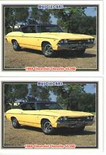 1969 Chevy Chevelle SS 396 baseball card sized cards - Must See!! - lot of 2