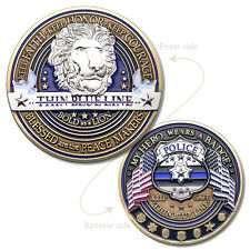 Law Enforcement Appreciation Challenge Coin · Police Thank You · Thin Blue Line