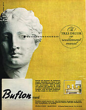 PUBLICITE ADVERTISING 114  1964  BUFLON MURAL revetement