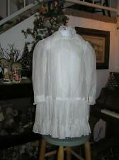 Victorian late 1880's LIttle Girls Batiste Belgium White Lace Embroidered Dress