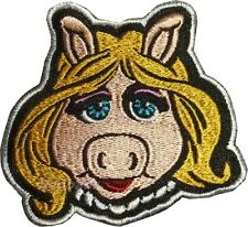 Miss Piggy Face Embroidered Patch Kermit the Frog Animal Gonzo Fozzie Bear