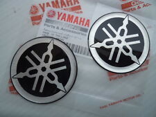 Yamaha Tank Panel Round Resin Emblems Badges Stickers x 2 50mm Diameter GENUINE