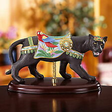 Lenox Black Jaguar Cat Carousel New with COA