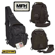 ZAINO TATTICO MONOSPALLA INCURSORE MFH NERO BK BACKPACK SOFTAIR SURVIVOR CAMPING