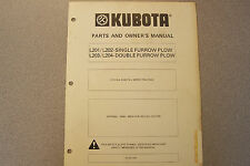 Kubota Parts and Owner's Manual for Single and Double Furrow Plow
