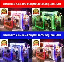 Storefront Window RGB (Multi Color) Led Lights Strips Plug N Play Kit (50ft)