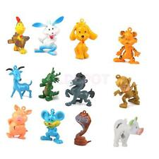 12 Small Action Figures Chinese Zodiac Plastic Animals Model Kids Funny Toys
