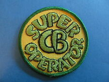 Vintage 70's Biker Vest Trucker Hat Hippie Jacket Patch SUPER CB OPERATOR Green