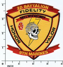 USMC 2nd Battalion/9th Marines PATCH skull 2/9 REACTIVATED 2d MarDiv 2dBn/9thMar