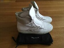 KRIS VAN ASSCHE Mens White Leather High Top Sneakers Size EU 44 US 11 $645