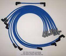 1987-1995 CHEVY/GMC SUBURBAN TAHOE YUKON 5.7L 350 TBI BLUE 8MM Spark Plug Wires