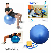 75cm GYM BALL Exercise Pregnancy Birthing Aid Swiss Yoga Core Abs Fitness + PUMP