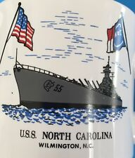 USS North Carolina Battleship 8 Oz Tea Cup Diner Coffee Mug Wilmington NC Flag