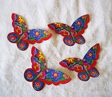 LAUREL BURCH COTTON FABRIC IRON ON BUTTERFLY APPLIQUES   #604