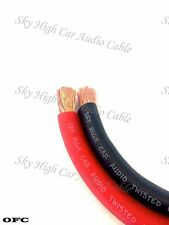 50 ' ft OFC 2/0 Gauge AWG 25' RED / 25' BLACK Power Ground Wire Sky High ft GA