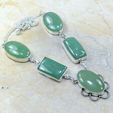 "Handmade Natural Amazonite Jasper 925 Sterling Silver Necklace 19.25"" #D91326"