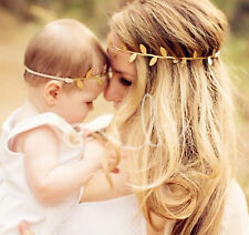 Mum + daughter Baby girl Gold leaf photography Party headband hair band PROP