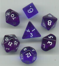 RPG Dice Set of 7 - Misfit Translucent Blue