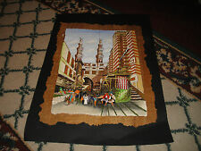 Stunning Arabic Middle Eastern Painting Drawing-Buildings & People-Rice Papyrus