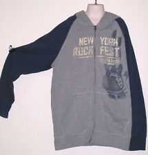 GUC Children Size L 12/14 Long Sleeve Hoody by Urban Pipeline Gray and Dark Blue