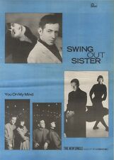 1/4/89Pgn10 Advert: Swing Out Sister The New Single 'you On My Mind' 15x11