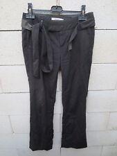 Pantalon COMPTOIR DES COTONNIERS SOPHORA gris taille 36 laine