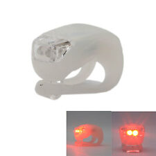 Waterproof Double LED Light Silicone Rear Wheel for Bicycle Bike Cycling Red