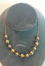 "BEAUTIFUL 14K BEADED BOX CHAIN 17"" NECKLACE, 15 GRAMS"