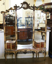 Best Ever Creme Painted French Rococo Marble Top Lady's Vanity Dressing Mirror