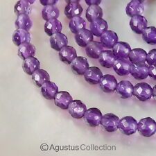 "AMETHYST 15"" Strand 2.7 mm Sparkling Micro-Faceted Round Gemstone BEADS 16.5 ct"