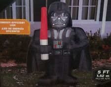 5FT CHRISTMAS GEMMY AIRBLOWN INFLATABLE STAR WARS DARTH VADER LIGHT SABER FIGURE