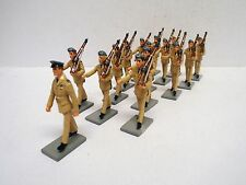 ASSET MINIATURES R.A.F FAR EAST SOLDIERS MARCHING X 15 GLOSSY 54MM LOOSE(BS1577)